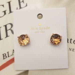 kate spade Jewelry - Kate Spade Light Peach Stud Earrings
